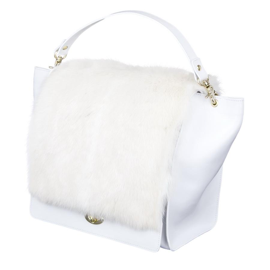 9784a821d1 Kožená kabelka MARIMA - biela - kožené výrobky