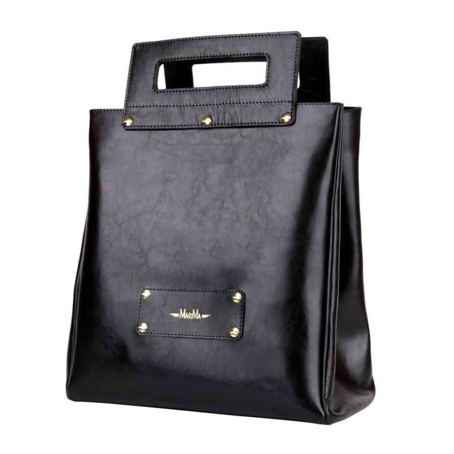 b81d8f578d4 Dámska kabelka MARATHON z pravej kože – čierna – kožené výrobky