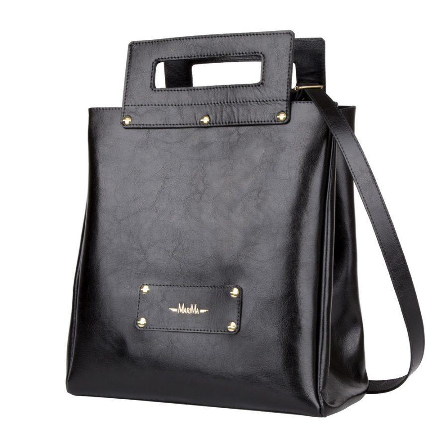 893d5705cd Dámska kabelka MARATHON z pravej kože - čierna - kožené výrobky
