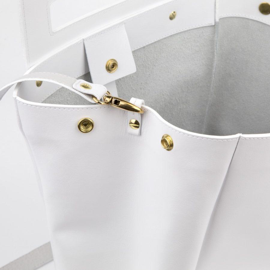 5fefa0c24167 Dámska kabelka MARATHON z pravej kože - biela - kožené výrobky