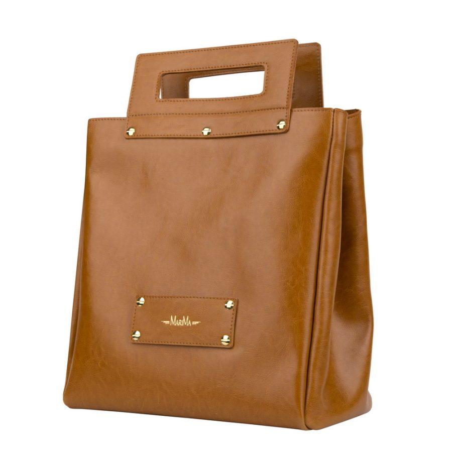 63381dc73b Dámska kabelka MARATHON z pravej kože - hnedá - kožené výrobky