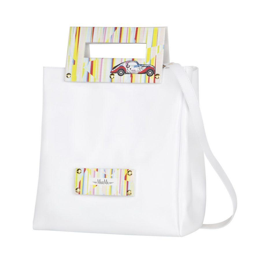 5fba5546718a Dámska kabelka MARATHON II z pravej kože - biela - kožené výrobky