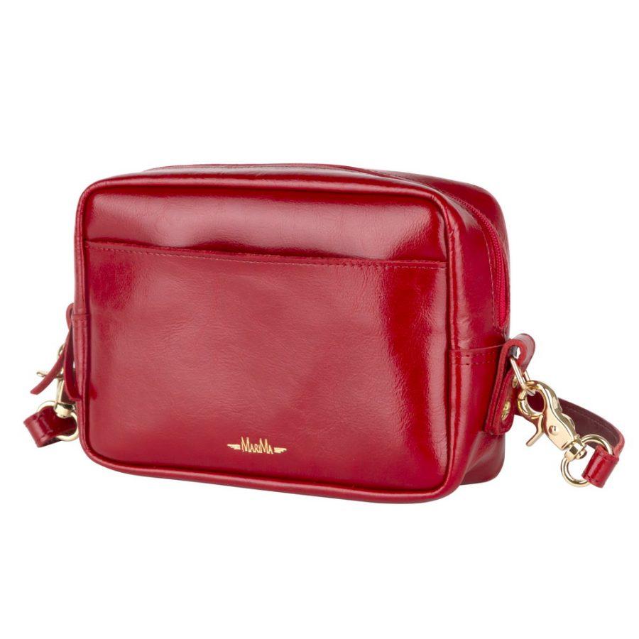 Kožená ľadvinka kabelka MARATHON z pravej kože - červená - kožené ... e56f0becb03